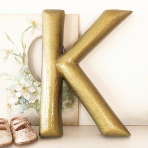 Beautiful large gold letter K (33cm)