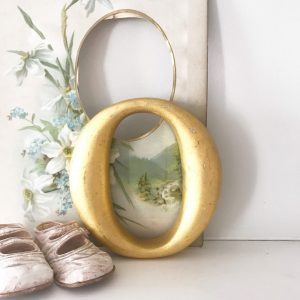 Lovely little reclaimed gold gilt letter O (15cm)