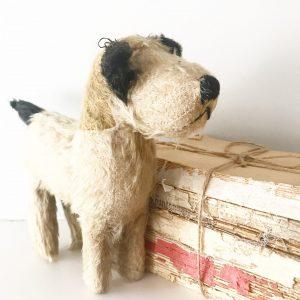 Adorable vintage mohair terrier dog