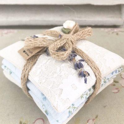 Lovely handmade lavender pillows (4 pillows in each bundle)