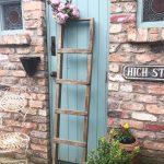 Beautiful vintage rustic wooden ladder