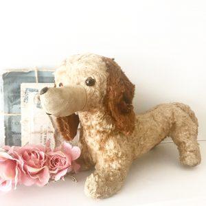 Beautiful vintage strawfilled Dachshund toy dog