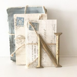 Wonderful antique reclaimed gold metal letter N (8.5cm)