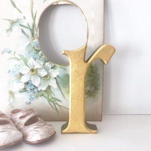 Wonderful gold reclaimed lower case letter r