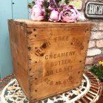 Wonderful old Irish Free State butter box
