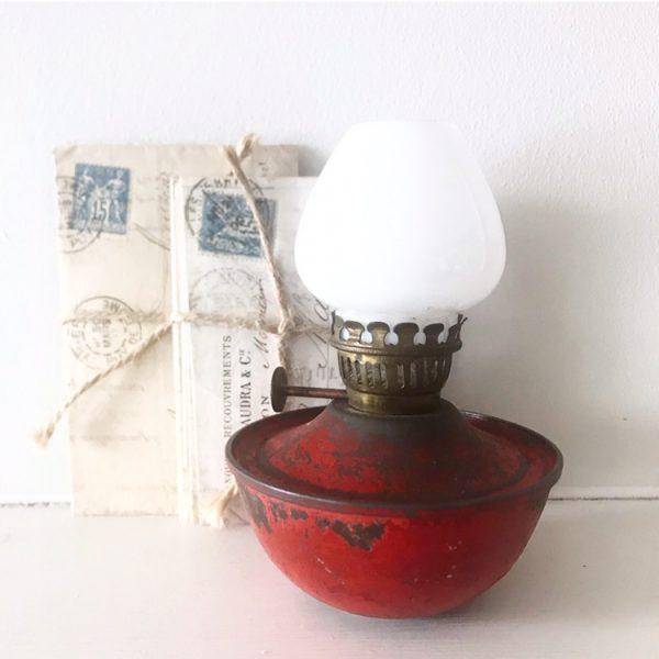 Delightful little red nursery oil lamp