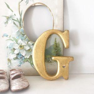 Wonderful gold reclaimed pub letter G (15cm)