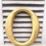 Absolutely stunning reclaimed gold letter (O - 30cm)