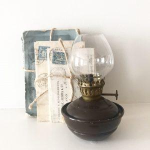 Gorgeous vintage nursery oil lamp