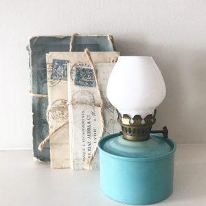 Delightful little vintage oil lamp
