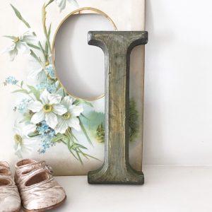 Lovely reclaimed wooden shop letter (I - 21.5cm)