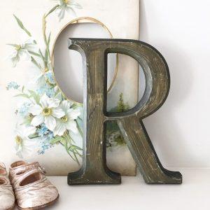 Lovely reclaimed wooden shop letter (R - 21.5cm)