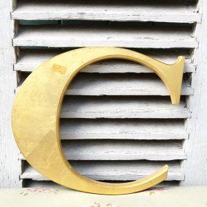 Lovely gold reclaimed pub letter (C- 30cm)
