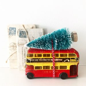 Beautiful vintage London bus Christmas decoration