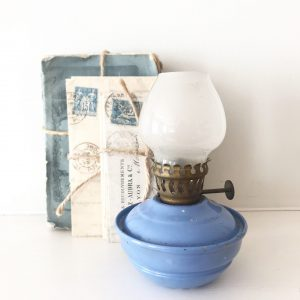 Beautiful little lilac vintage oil lamp