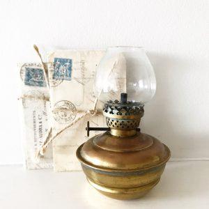 Cute little vintage brass nursery oil lamp