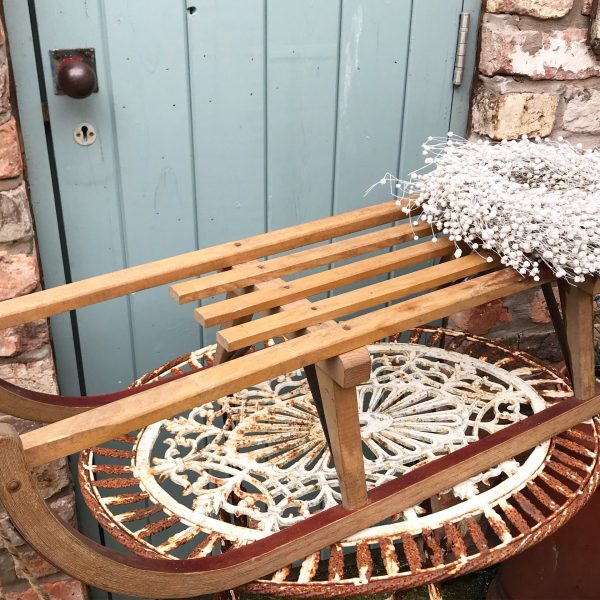 Gorgeous old large wooden sleigh (92cm)
